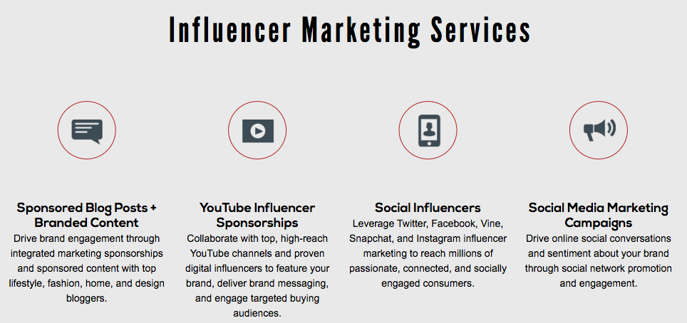 influencer marketing services