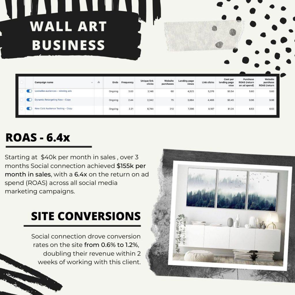 Art social media marketing campaign